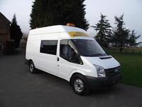 2008 08 FORD TRANSIT 140 PS 6-SPEED LWB MESS TOILET ROOM WELFARE CREW VAN # 86K