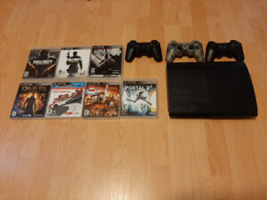 PS3 w/ Controllers & Games