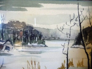 Two Beautiful Watercolor Farming Landscapes by Des Major 1985 Stratford Kitchener Area image 8