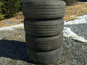 Four Firestone 205/55R16 Summer Tires