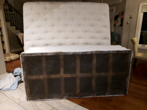 King Size mattress and split box spring