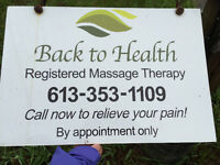 BACK TO HEALTH MASSAGE THERAPY CLINIC