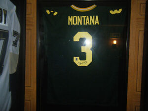 Rare Joe Montana Signed Irish Jersey Regina Regina Area image 1
