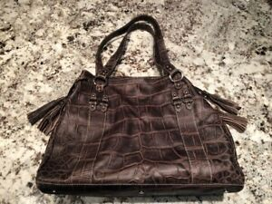 Cavalcanti Brown Leather Handbag made in Italy. Never used.