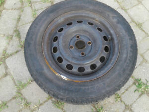 RIMS 4 4x100 Bolt Pattern with 185 65 R14 winter tires $80