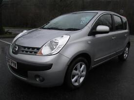 07/07 NISSAN NOTE 1.4 SE 5DR MPV IN MET SILVER WITH ONLY 74,000 MILES