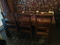 Dining Room Table, Chairs and Side Board