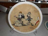 """""""Rockwell on Tour""""4 plates ."""