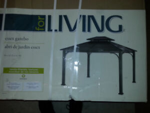 **NEW** FOR LIVING ESSEX GAZEBO (BLACK) 12 L x 10 W x 9.89 H Ft.
