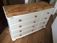 Up Cycled Solid Pine Chest of Drawers/Dresser (Can Deliver)