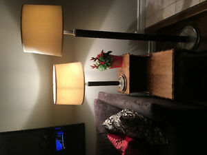 Matching floor and table lamp