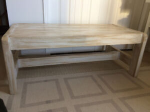 Vintage All Solid Wood Coffee Table – Antique Finish