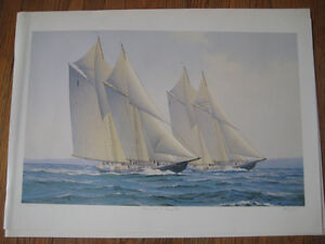 3 Limited Edition Sailing Prints by F. Wright.