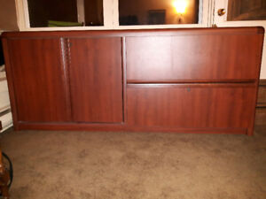 Credenza, Bureau, Console style storage and filing cabinet