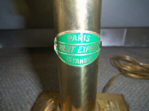 VINTAGE BRASS LAMP - ORIENT EXPRESS PARIS ISTANBUL Windsor Region Ontario image 2