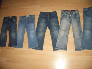 5 jeans pour fille GIRL ------ size 3 - 4