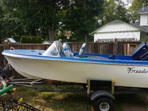 14ft boat with 70hp outboard