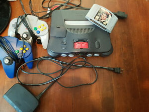 N64 golden eye 2 controllers and expansion.