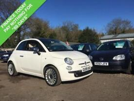 2008 08 FIAT 500 1.4 LOUNGE 3DR 99 BHP RARE SPEC GLASS ROOF