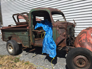 Complete 1947ford truck frame and suspension and steering
