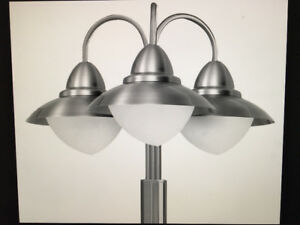 Stainless steel Eglo Sidney Outdoor Lamp Posts- 2 of them