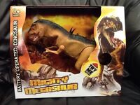 NEW Mighty Megasaur Battery Operated Dinosaur ROARS! Walking Action Lights Up
