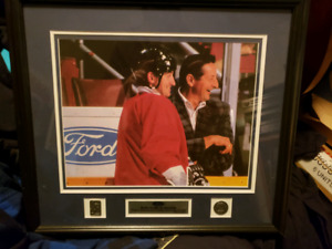 Walter and Wayne gretzky framed picture.