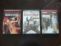 All 3 only $5! School of Rock, Mr. Deeds, Ocean's Eleven