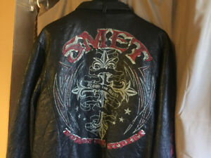 Leather jacket- Smet by Christian Audigier