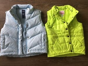 2 Puffy Vests, size 7/8