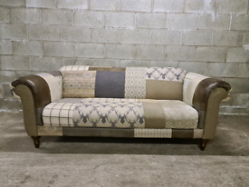 FREE DELIVERY 🚚 STUNNING Patch work 3 seater sofa / couch/ Furniture