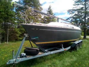23' trailerable sailboat