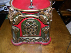 Pottery Folk Art Ornate One-of-a-Kind Vintage Gumball Machine