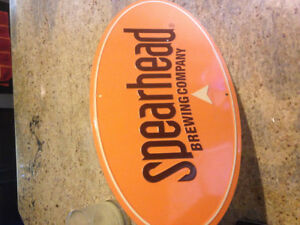 beer sign spearhead brewing company tin craft beer