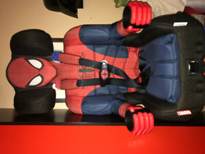 Car/booster seat brand new, extended five point Spider-Man!