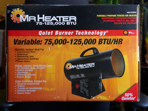 NIB Forced Air Propane Heater 75 000 to 125 000 BTU