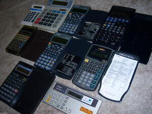 bunch of calculators
