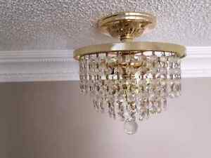 Small brass chandelier style ceiling fixtures