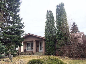 Lacombe Park bungalow backing onto park 4 Bed 3 bath