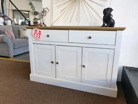 NEW White & Oak - 3 Door 2 Drawer Sideboard