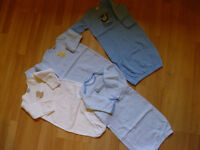 Very nice 4 newborn baby layettes and two blankets, NWT