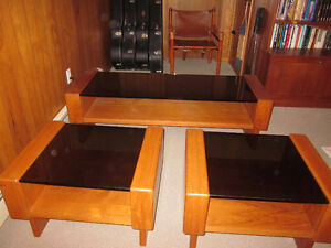 Mid Century Modern Teak Coffee & Two End Tables - Mint Condition