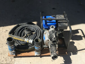 3 Inch 264GPM Gas Trash Pump with 60ft Hose & Fittings