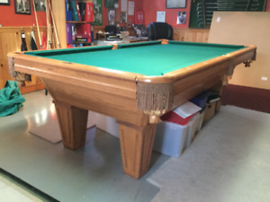 Pool table with ping pong table accessory