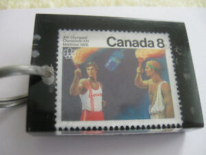 INTERESTING CANADIAN VINTAGE 1976 XXI OLYMPIAD MONTREAL KEY RING