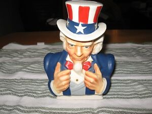 Uncle Sam Porcelain Bank from the 1950's