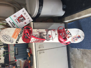 Step Child Snowboard 157 with Union Bindings