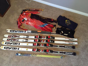 Head GS Skis, Descente Speed Suits, Gipron Poles PRICES REDUCED