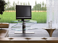 Revolving Bent Glass TV Stands on Sale - Save 40% - $399+GST