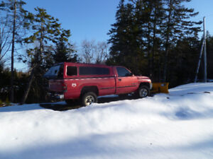 1998 Dodge Ram 1500 4X4 with 7ft. Fisher electric Plow